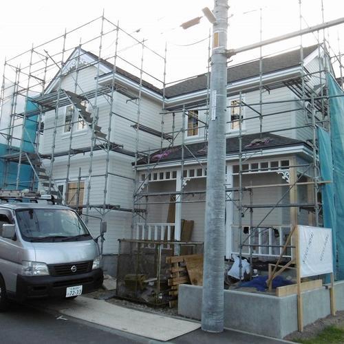 新モデルハウス建設中。