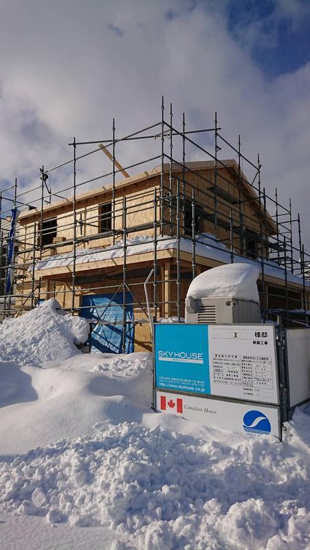 大雪に負けない輸入住宅♬