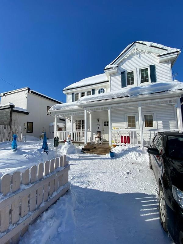 雪だるまと輸入住宅